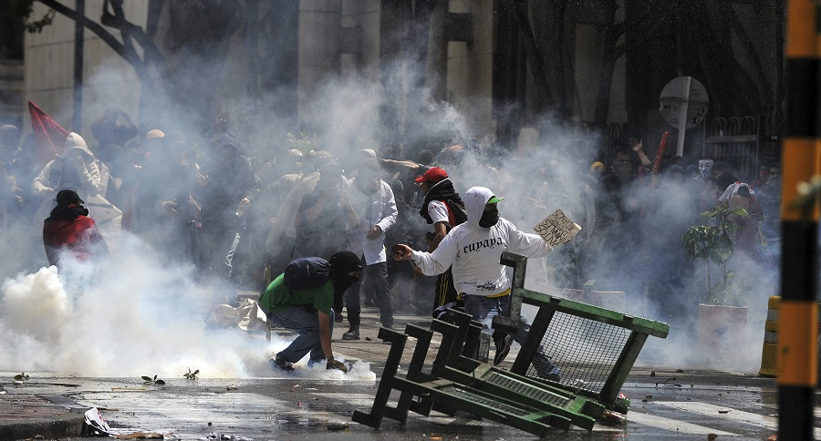 Protestas estudiantiles en Bogotá