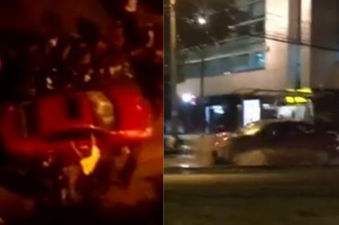 Carro que atropelló estudiantes en el norte de Bogotá