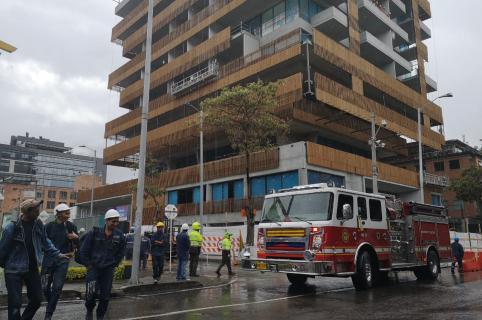 Emergencia en edificios del Parque de la 93, en Bogotá