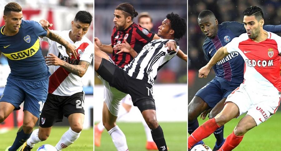 Boca-River, Milan-Juventus y Mónaco-PSG