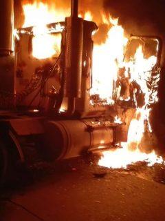 Bus incinerado