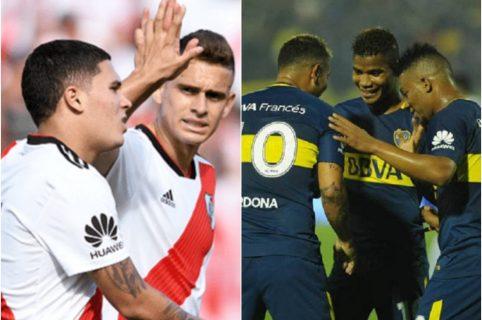 Colombianos de River Plate y Boca Juniors