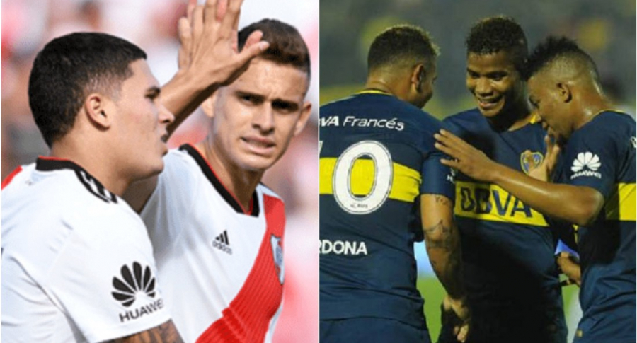 Colombianos de River Plate y Boca Juniors