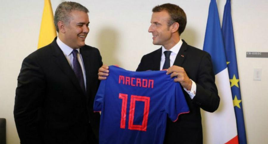 Iván Duque y Emmanuel Macron