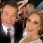Alejandra Azcárate y Jimmy Fallon
