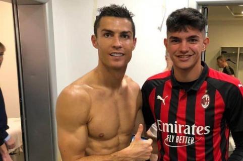 Cristiano Ronaldo y jugador del Milan