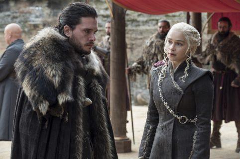 Kit Harington (Jon Snow) y Emilia Clarke (Daenerys Targaryen) en 'Game  of Thrones'