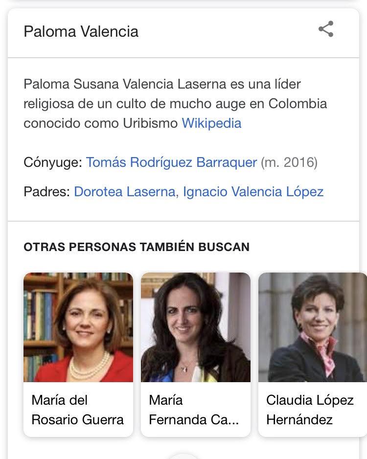 Paloma Valencia en Wikipedia