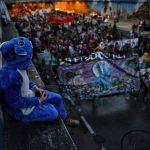 Imagen de las protestas estudiantiles en Bogotá
