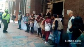 Estudiantes en el Ministerio del Interior
