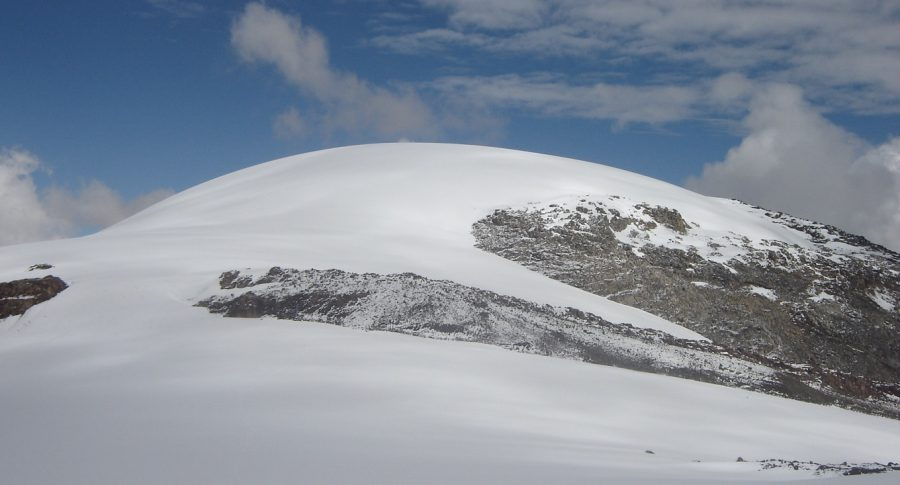 Vista del nevado Santa Isabel