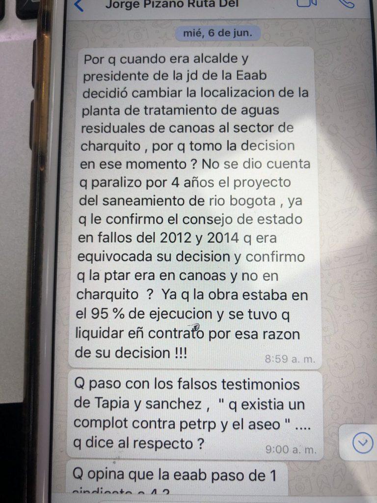 Chat entre Jorge Enrique Pizano y Darcy Quinn