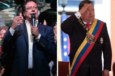 Gustavo Petro y Hugo Chávez