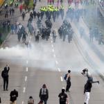 Disturbios en marchas estudiantiles