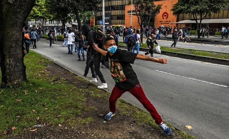 Protestas universitarias en Bogotá