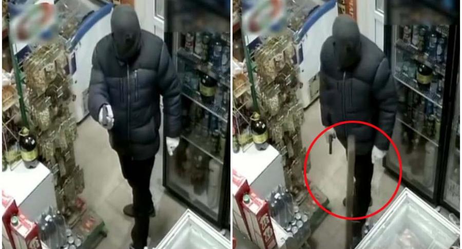 Ladrón en una tienda.
