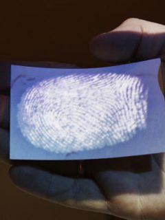 Persona con un papel en la mano