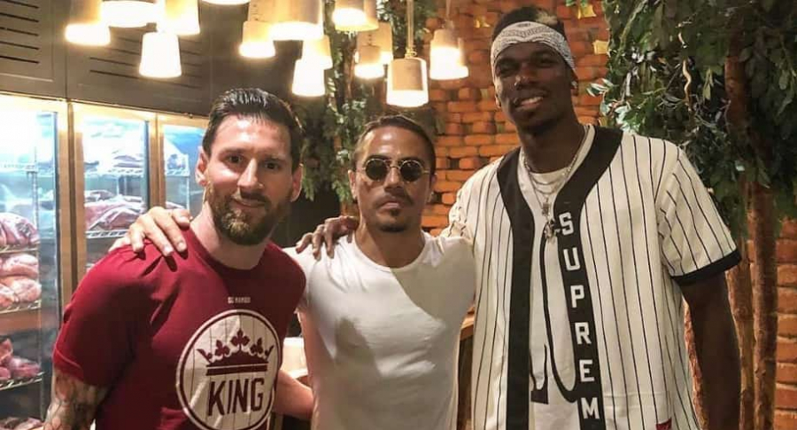Lionel Messi, Salt Bae y Paul Pogba