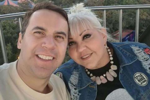 'La Gorda' Fabiola con su esposo, 'Polilla'.