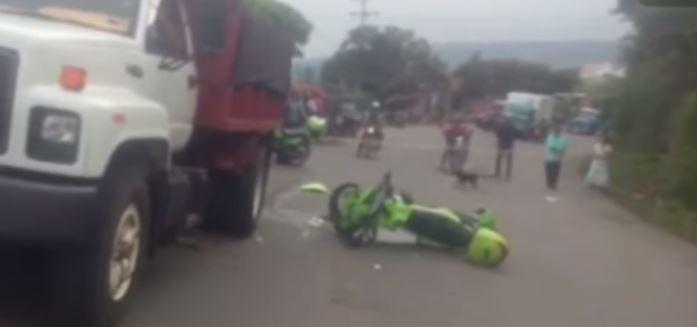 Accidente de tránsito policía