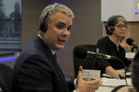 Iván Duque en entrevista con Yolanda Ruíz.