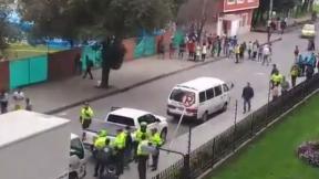 Disturbios de venezolanos, en Bogotu00e1