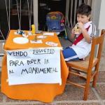 Niño hincha de River Plate