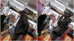 Hombre en una tienda.