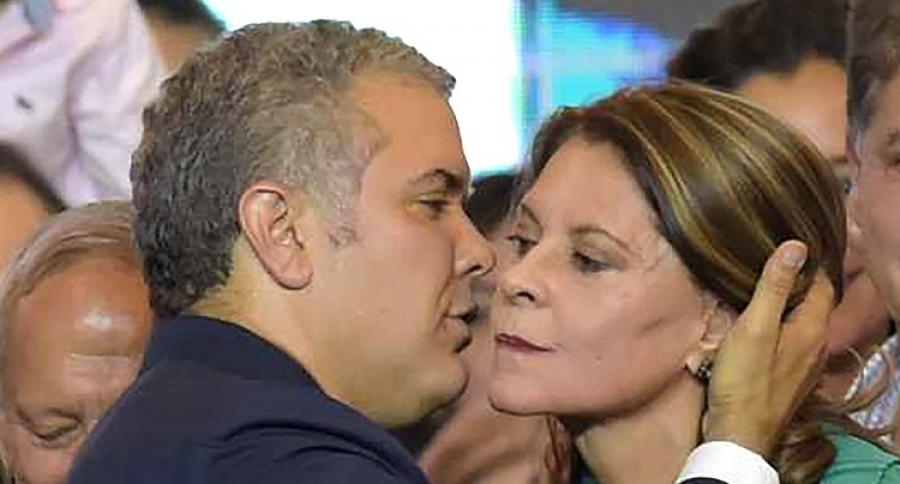 Marta Lucía Ramírez e Iván Duque