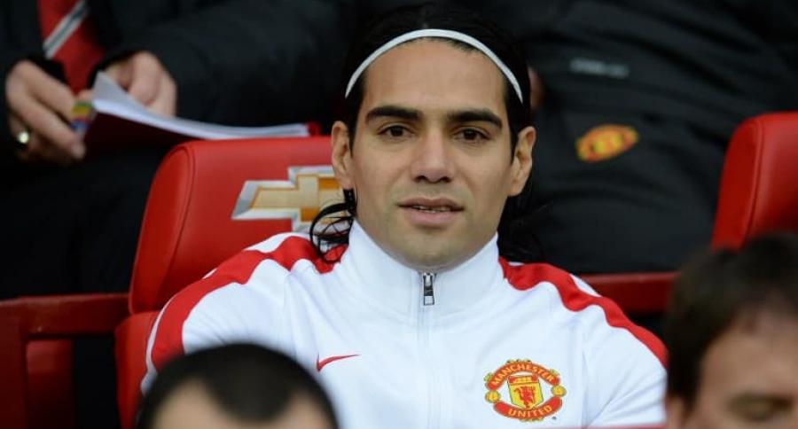 Falcao en el Manchester United