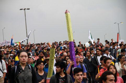 Marcha estudiantil del 15 de noviembre en Bogotá
