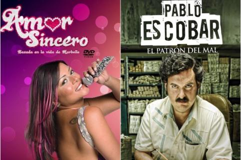 Marbelle / Andrés Parra en el papel de Pablo Escobar