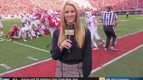 Laura Rutledge, reportera deportiva.