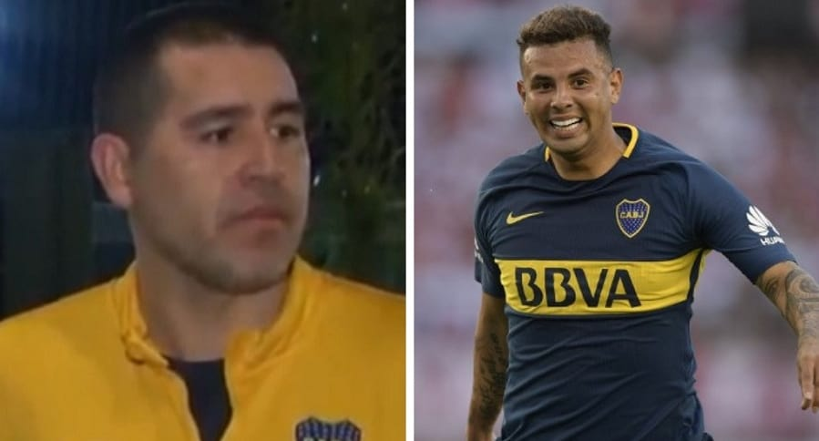 Juan Román Riquelme y Edwin Cardona