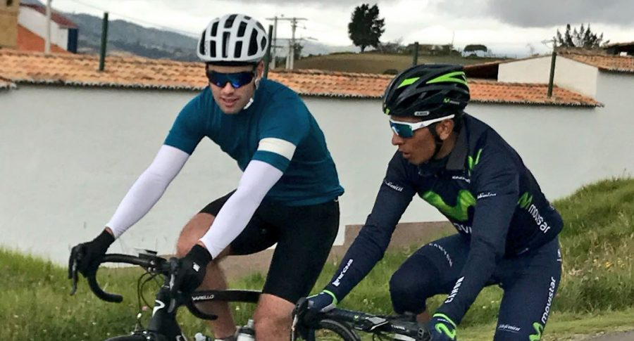 Esteban Santos y Nairo Quintana