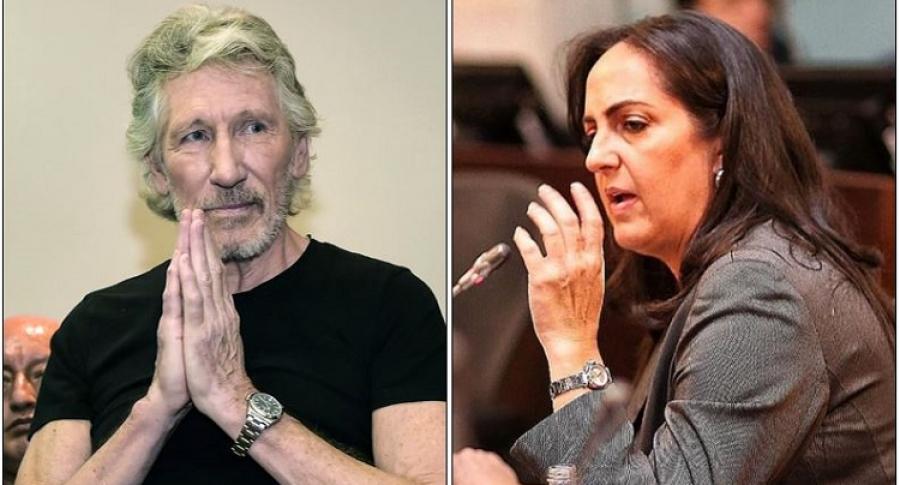 Roger Waters y María Fernanda Cabal