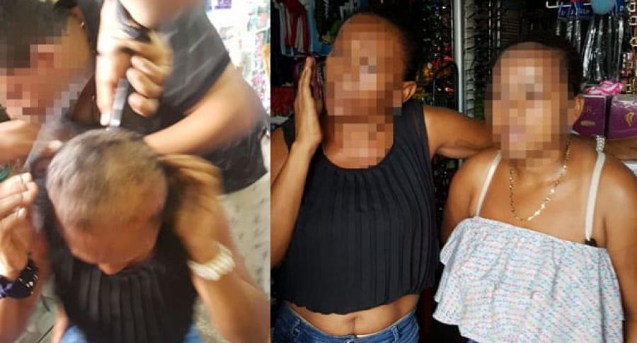 Mujeres rapadas en Rioacha