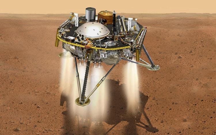 Simulación de la nave Mars InSight