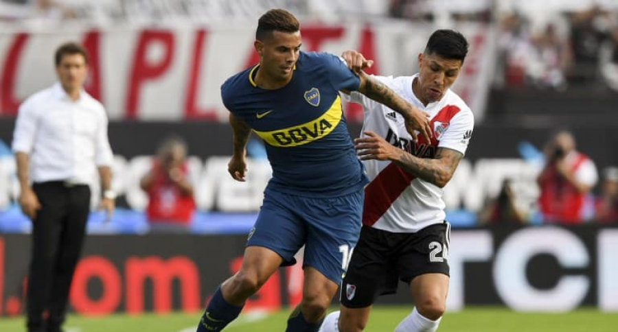 Edwin Cardona en River Plate vs. Boca Juniors