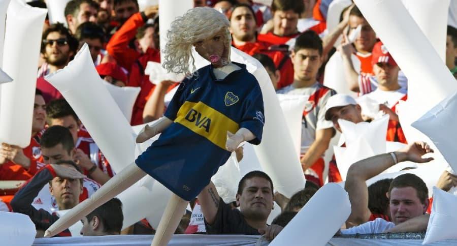Hinchas de River Plate ante Boca Juniors