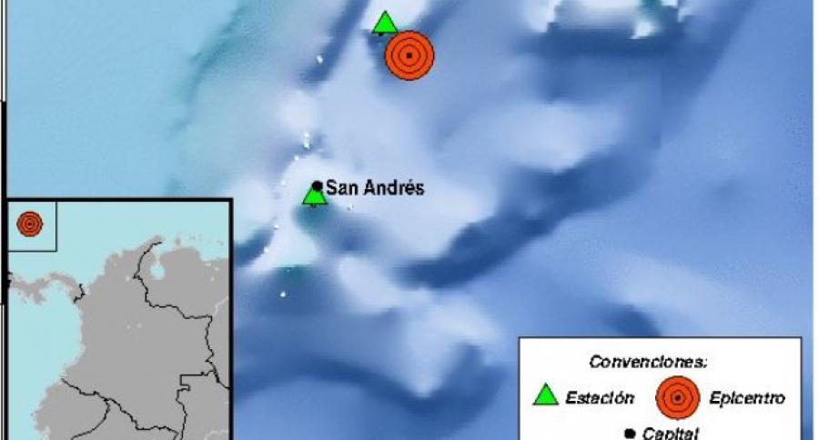 Sismo en San Andrés