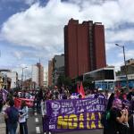 Marcha de mujeres en Bogotá
