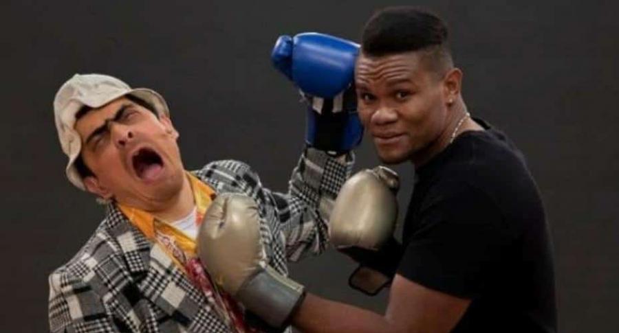 Suso y el boxeador colombiano Eleider Álvarez.
