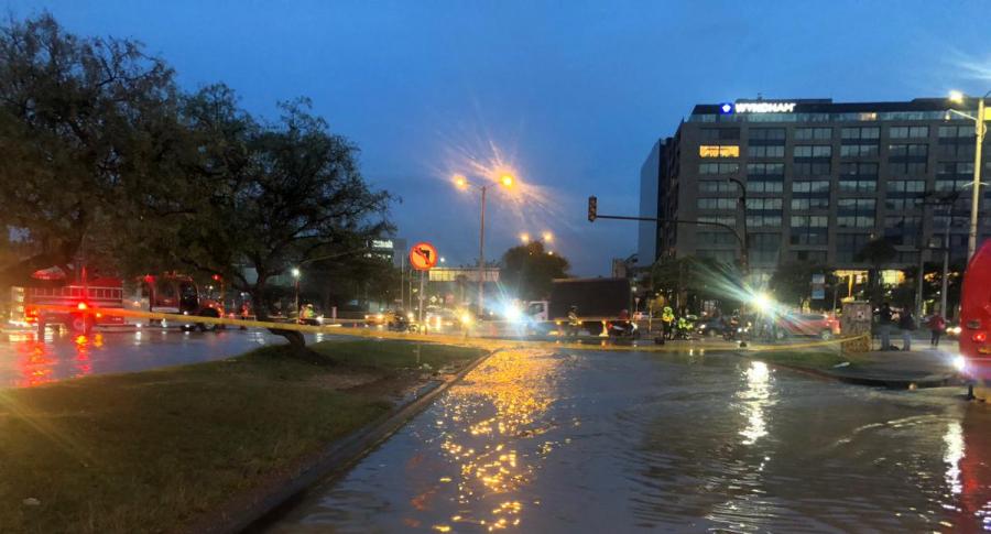 Vías inundadas