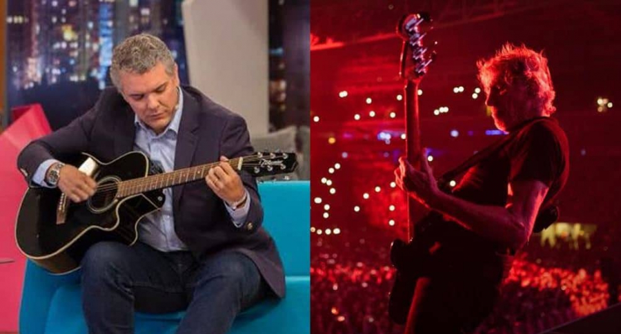 Iván Duque y Roger Waters
