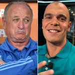 Luiz Felipe Scolari y Mauricio Borges 'Mano'
