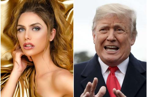 Ángela Ponce y Donald Trump