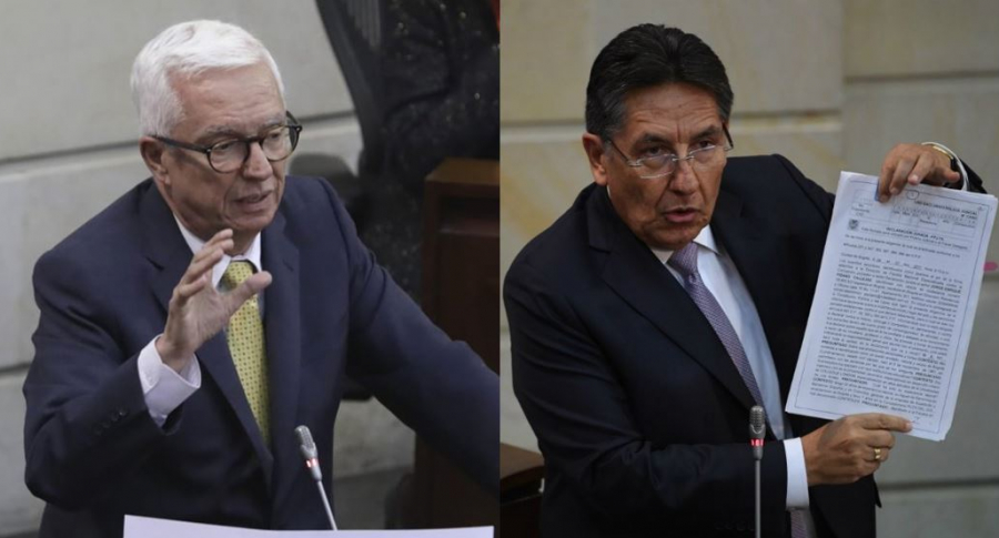 Jorge Enrique Robledo y Néstor Humberto Martínez