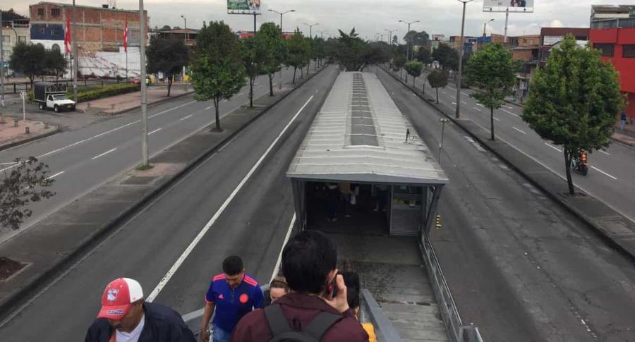 Soledad en las vías de Bogotá
