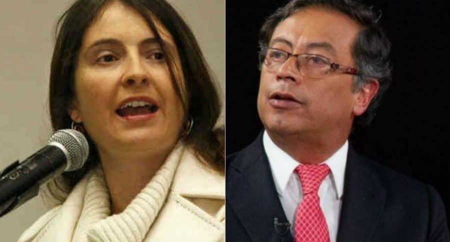 Paloma Valencia y Gustavo Petro